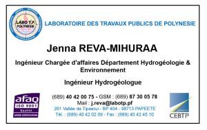 Carte de visite Jenna REVA