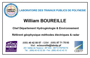 Carte de visite William BOUREILLE